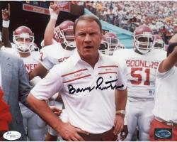 Barry Switzer Autographed Oklahoma Sooners 8x10 Photo