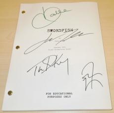 SWORDFISH Signed - Autographed Script by John Travolta, Halle Berry, Don Cheadle, and Tim Dekay - Guaranteed to pass PSA or JSA