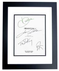 SWORDFISH Autographed Script by John Travolta, Halle Berry, Don Cheadle, and Tim Dekay BLACK CUSTOM FRAME