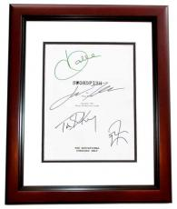SWORDFISH Autographed Script by John Travolta, Halle Berry, Don Cheadle, and Tim Dekay MAHOGANY CUSTOM FRAME