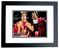 Sylvester Stallone and Carl Weathers Signed - Autographed ROCKY  8x10 inch Photo - BLACK CUSTOM FRAME - Sly Stallone - Apollo Creed - Guaranteed to pass PSA/DNA or JSA