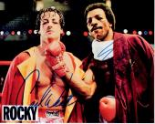 Sylvester Stallone and Carl Weathers Signed - Autographed ROCKY 8x10 inch Photo - Sly Stallone - Apollo Creed - Guaranteed to pass PSA/DNA or JSA