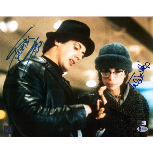 """Sylvester Stallone and Talia Shire Rocky Autographed 11"""" x 14"""" Looking at Hand Photograph- Beckett"""