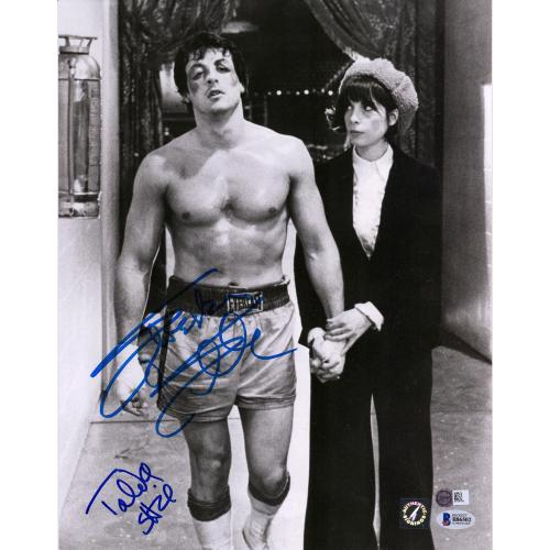 "Sylvester Stallone and Talia Shire Rocky Autographed 11"" x 14"" Walking With Sylvester Stallone Photograph - Beckett"
