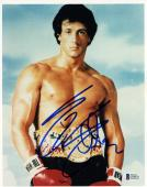 """Sylvester Stallone Autographed 8"""" x 10"""" Rocky Posed Photograph - BAS COA"""