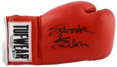 Sylvester Stallone Autographed Red Tuf-Wear Boxing Glove - Beckett COA