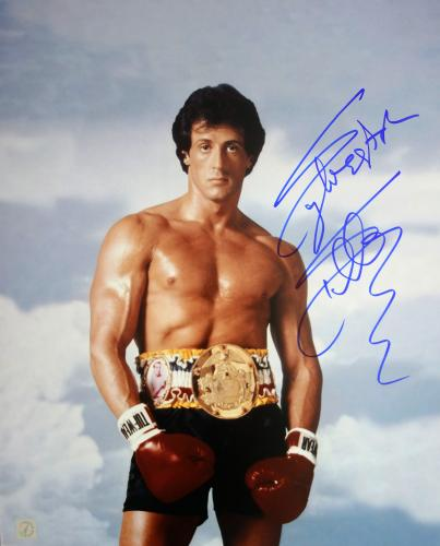 Sylvester Stallone Autographed ROCKY 16x20 Photo ROCKY III