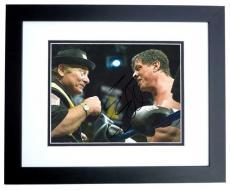 Sylvester Stallone Autographed ROCKY 8x10 Photo BLACK CUSTOM FRAME
