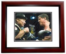 Sylvester Stallone Autographed ROCKY 8x10 Photo MAHOGANY CUSTOM FRAME