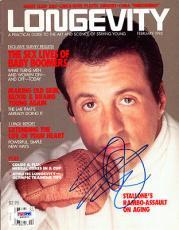 Sylvester Stallone Autographed Signed Longevity Magazine PSA/DNA #W66901