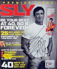 Sylvester Stallone Autographed Signed SLY Magazine PSA/DNA #W66904