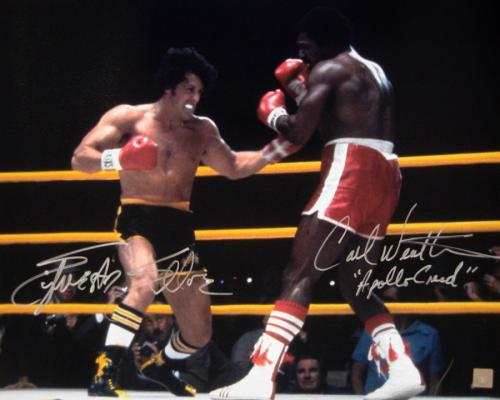 Sylvester Stallone & Carl Weathers Signed ROCKY II 16x20 Photo
