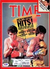 Sylvester Stallone & Cooney Autographed Signed Magazine Cover PSA/DNA #S01518