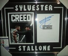 Sylvester Stallone Creed Movie Signed Autographed Double Matted & Framed Jsa Coa