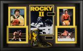 """Sylvester Stallone Framed 31"""" x 47"""" x 6"""" Rocky II Shadowbox Collage with Autographed Rocky II Boxing Boot- Beckett COA"""