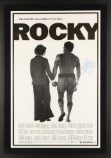 "Sylvester Stallone Framed Autographed  24"" x 36"" Rocky Movie Poster - PSA/DNA COA"