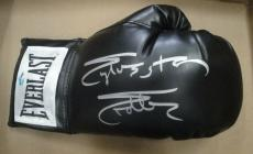Sylvester Stallone Hand Signed Autographed Black Everlast Boxing Glove OA COA