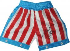 Sylvester Stallone Hand Signed Autographed USA Boxing Shorts Rocky OA 8420253