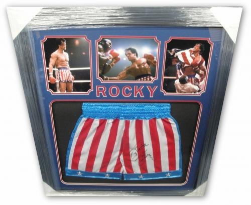 Sylvester Stallone Hand Signed Autographed USA Boxing Shorts Thrunks Rocky OA