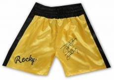 Sylvester Stallone Hand Signed Autographed Yellow Boxing Shorts Rocky OA 8420256
