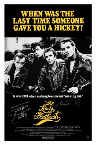 Sylvester Stallone & Henry Winkler Signed LORDS OF FLATBUSH 24x36 Movie Poster