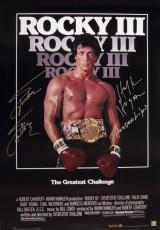 Sylvester Stallone & Hulk Hogan Signed ROCKY III 24x36 Movie Poster