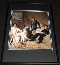 Sylvester Stallone Michael Eisner John Travolta 1983 Framed 12x18 Photo Display