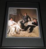 Sylvester Stallone Michael Eisner John Travolta 1983 Framed 12x18 Photo Display