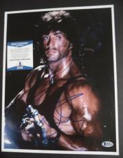 Sylvester Stallone Movie Legend Signed Autographed 11x14 Photo Bas Beckett Coa
