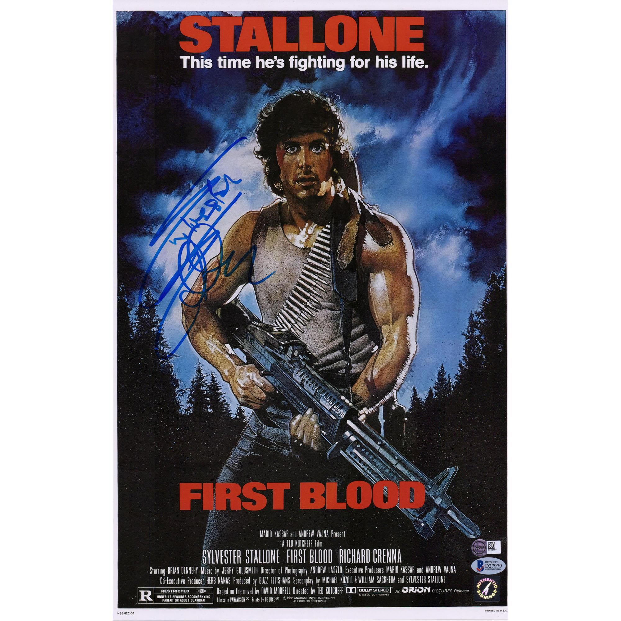 Sylvester Stallone Rambo First Blood Autographed 12