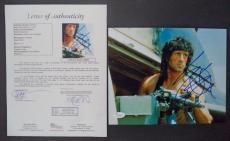 Sylvester Stallone Rambo Movie Legend Signed Autographed 8x10 Photo Jsa Loa