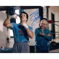 "Sylvester Stallone Rocky Autographed 16"" x 20"" Hitting Speed Bag Photograph - Beckett"