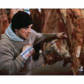 "Sylvester Stallone Rocky Autographed 16"" x 20"" Punching Meat Photograph - Beckett"