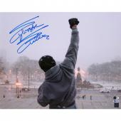"Sylvester Stallone Rocky Autographed 16"" x 20"" Top of Steps Photograph - Beckett"
