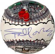 Sylvester Stallone Rocky Autographed Arms Up Baseball - Hand Painted by Artist Charles Fazzino