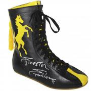 Sylvester Stallone Rocky Autographed Black and Yellow Boxing Shoe - Beckett