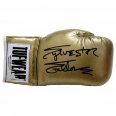 Sylvester Stallone Rocky Autographed Gold Tuf Wear Boxing Glove - Beckett