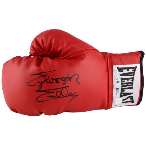 Sylvester Stallone Rocky Autographed Red Everlast Boxing Glove - Beckett