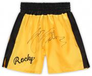 Sylvester Stallone Rocky Autographed Yellow Boxing Trunks