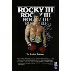 "Sylvester Stallone Rocky III Autographed 12"" x 18"" Movie Poster - Beckett"