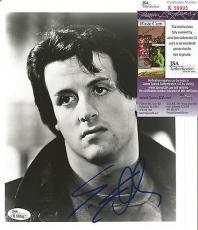 Sylvester Stallone Rocky Legend Signed Autographed B/w 8x10 Photo Rare Jsa Coa