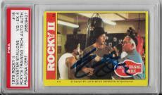 Sylvester Stallone Rocky Movie Legend Signed Autograph 1979 #16 Card Psa/dna Coa