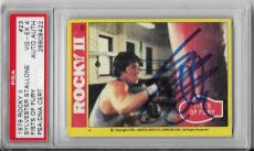 Sylvester Stallone Rocky Movie Legend Signed Autograph 1979 #23 Card Psa/dna Coa