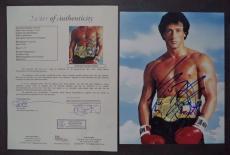 Sylvester Stallone Rocky Movie Legend Signed Autograph 8x10 Photo Jsa Loa Rare A