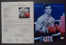 Sylvester Stallone Rocky Movie Legend Signed Autograph 8x10 Photo Jsa Loa Rare B