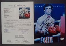 Sylvester Stallone Rocky Movie Legend Signed Autograph 8x10 Photo Jsa Loa Rare B