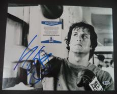 Sylvester Stallone Rocky Movie Signed Autographed 11x14 Photo Bas Beckett Coa