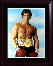 Sylvester Stallone Rocky signed 11x14 photo framed autograph PSA /DNA COA