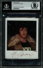 Sylvester Stallone Rocky Signed 3.5x4 Polaroid Photo BAS Slabbed