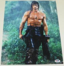Sylvester Stallone Signed 11x14 Photo Rocky Balboa Rambo Autograph Psa A